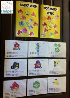 Angry Verbs! Free printables. My students were SO excited for this unit :)