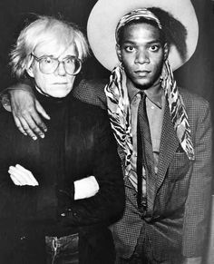 portraits d´artistes ◈ andy warhol and jean michel basquiat (saatchi gallery)