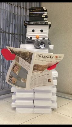 Snowman out of books
