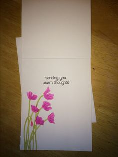 Thinking of you card. -  inside