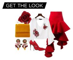 A fashion look from March 2017 featuring embroidered top, hi lo skirt and high heeled footwear. Browse and shop related looks. Get The Look, Polyvore, Stuff To Buy, Shopping, Collection, Design, Women, Fashion, Moda