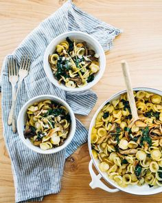 Brown butter mushroom orecchiette is a rich, yet simple, weeknight pasta recipe.