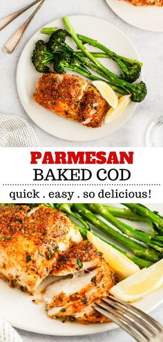 This oven baked Parmesan Crusted Cod recipe is an easy fish meal to prepare for a quick, tasty weeknight dinner. This recipe is cod topped with parmesan cheese and baked to perfection. Fish Dinner, Seafood Dinner, Parmesan Crusted Cod, Healthy Dinner Recipes, Cooking Recipes, Easy Cod Recipes, Tasty Healthy Meals, Healthy Weeknight Dinners, Pescatarian Recipes