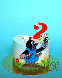 little Mole - Cake by Derika Friends Cake, Mole, Themed Cakes, Cake Cookies, Cake Decorating, Food And Drink, Birthday Cake, Desserts, Kids