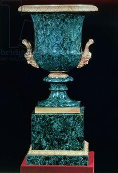 Malachite urn with gilt-bronze mounts, Russian, c.1810