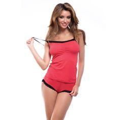 c03187d3b3813 Сексуальная пижама женская, Коралл Производитель:Польша Тип: Пижама с  шортами Материал:вискоза