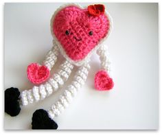 Mesmerizing Crochet an Amigurumi Rabbit Ideas. Lovely Crochet an Amigurumi Rabbit Ideas. Love Crochet, Crochet Gifts, Crochet For Kids, Crochet Dolls, Crochet Yarn, Crochet Hearts, Knitted Dolls, My Funny Valentine, Valentine Crafts