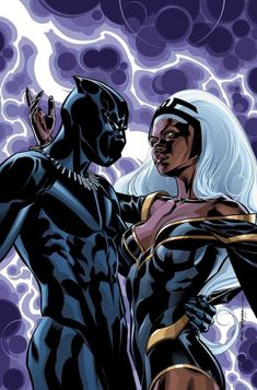 Black Panther & Storm, BLACK PANTHER #17; Cover by BRIAN STELFREEZE Female Black Panther, Black Panther Storm, Black Panther Art, Black Panther Marvel, Marvel Comic Universe, Batman Universe, Marvel Heroes, Marvel Comics, Panther Pictures