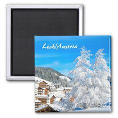 Shop Lech am Arlberg in Austria - Souvenir Magnet created by stdjura. Wedding Color Schemes, Wedding Colors, Alps, Invitation Cards, Austria, Art For Kids, Wedding Gifts, Photography, Switzerland