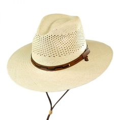 Stetson Airway Chincord Panama Straw Safari Hat Boinas 0636dee9159