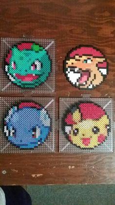 Pokemon Perler Coasters