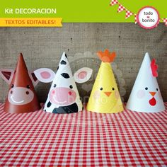 Granja niños: decoración de fiesta para imprimir Party Animals, Farm Animal Party, Farm Animal Birthday, Barnyard Party, Farm Birthday, Baby 1st Birthday, Farm Party, 2nd Birthday Parties, Barn Parties