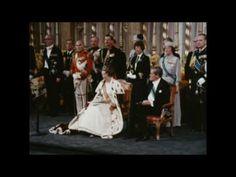 30 april 1980 - In de Nieuwe Kerk te Amsterdam wordt Koningin Beatrix ingehuldigd.    © NOS - Meer beelden: http://koningshuis.nos.nl