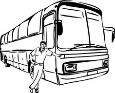 School Bus Safety Coloring Pages … | Teaching Stuff | Schoo…