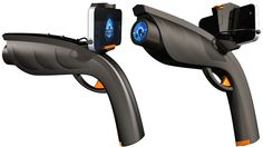 This could really replace the nerf guns in the office! $30 and works with iOS, Android and WP7