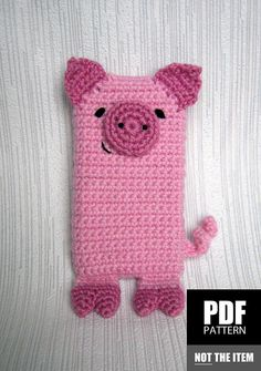 PDF+PATTERN++Pink+Pig++iPhone+5+crochet+by+CuteCrochetPatterns,+$4.00