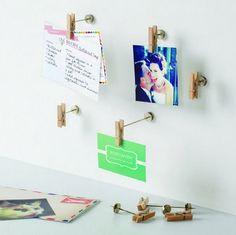 Porta-Retratos super diferentes para prender na parede :)  www.azzurium.com.br