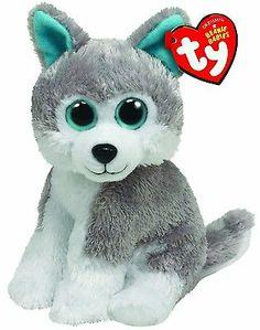 Ty Slush The Grey Gray White Husky Dog Beanie Boos Stuffed Plush Toy   eBay