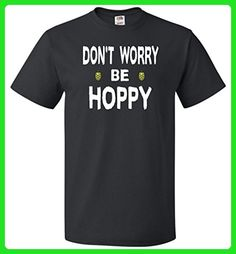 Don't Worry be Hoppy Beer Black Unisex T-Shirt - Food and drink shirts (*Amazon Partner-Link)