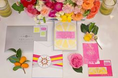 inkandpaper @inkandpaper stationery as seen in WedLuxe– Colours of Capri | Photography by: Melanie Rebane Photography Follow @WedLuxe for more wedding inspiration! Florals @coverscouture Planners @24caratevents Sweets - White Cakery Co