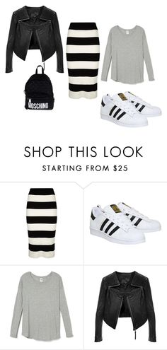 """""""...."""" by alma-mesic on Polyvore featuring Milly, adidas, Linea Pelle, Moschino, women's clothing, women's fashion, women, female, woman and misses"""