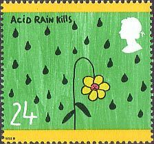 Protection of the Environment. Children's Paintings 24p Stamp (1992) Acid Rain Kills