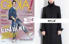 EKLE' via aspetta sul numero settimanale di GIOIA da oggi in edicola www.ekle.it #eklestyle
