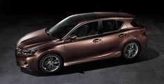 Lexus CT hybrid shown in Fire Agate Pearl with available 17-inch F SPORT trident-five-spoke alloy wheels.