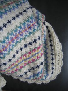 Fair Isle Baby Blanket by Apples-and-Pears, via Flickr Boodles, Pears, Apples, Knitted Hats, Needlework, Cross Stitch, Quilts, Embroidery, Blanket