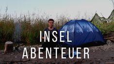Mit einem Schlauchboot auf eine Insel im Bodensee fahren um zu zelten. Ein echtes #Bushcraft Abenteuer. Bushcraft, Outdoor Gear, Tent, Youtube, Sports, Rib Boat, Outdoor Camping, Island, Adventure