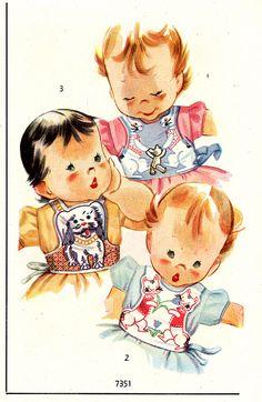 1948 Baby bibs