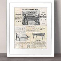 VINTAGE illustratie Paper Art Print foto antieke door MrArtPrints