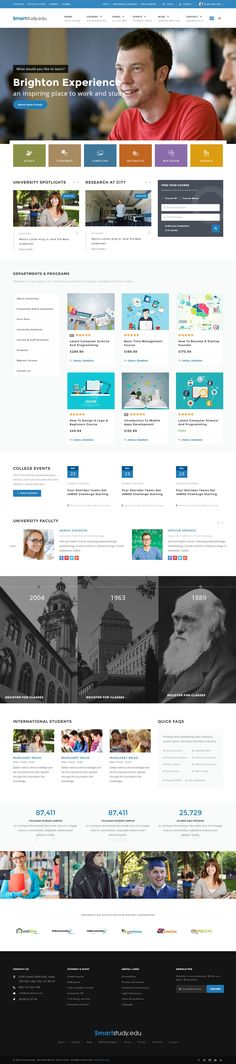 Smart Study is a professional learning management system responsive site template coded with #Bootstrap…