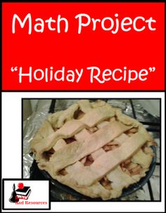 Elapsed Time and Budgeting Holiday Recipe Math Project