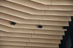 Feature Ceiling | Key-Beam custom manufactured balsawood with Sublime Teak finish | Narellan Town Centre | New South Wales