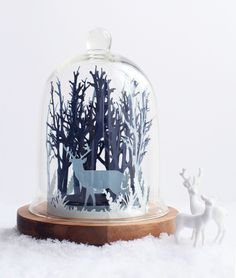 Cloche foret de Noel - christmas crafts diy decor dont-mess-with-the-rabbit-scan. - Cloche foret de Noel - christmas crafts diy decor dont-mess-with-the-rabbit-scan. Noel Christmas, All Things Christmas, Christmas Crafts, Christmas Decorations, Kirigami, Diy Décoration, Easy Diy, Papier Kind, The Bell Jar