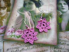 Crochet earrings   http://www.etsy.com/shop/CraftsbySigita