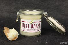 Moisturizing Heel Balm. Prevent cracked, dry heels with this easy to make heel balm!