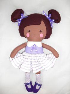 Custom Cloth doll, baby doll, dress up doll. $45.00, via Etsy.