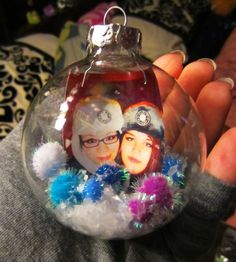 Very easy Christmas ornament craft!  I think these would be a great sentimental gift for a friend :)