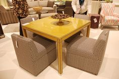 Fun twist on a family game table!  #HPMKT #VanguardFurniture #GameTable #DesignerStyle