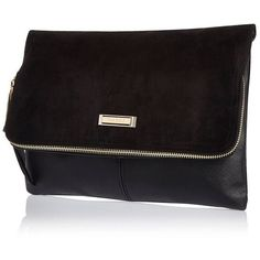 River Island Black soft foldover clutch (595 ARS) ❤ liked on Polyvore featuring bags, handbags, clutches, bags / purses, black, clutch bags, women, hand bags, foldover handbags and fold over purse