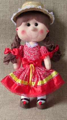 boneca caipira feltro - Pesquisa Google