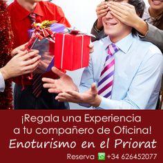 Regala a tu #compañero de #oficina una #experiencia de #enoturismo en el #Priorat ¡Sorpréndelo!