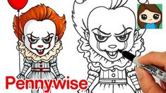 How to Draw Pennywise the Clown by Draw So Cute – Hildur.K.O