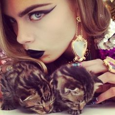 Cara Delevingne by Nick Knight: Pussycat, Pussycat.    http://popbee.com/fashion/cara-delevingne-by-nick-knight-pussycat-pussycat/