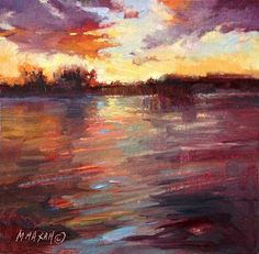 """Painting Give Away!  Golden- 6""""x6"""" oil  follow my blog for a chance to win!  Mary Maxam"""