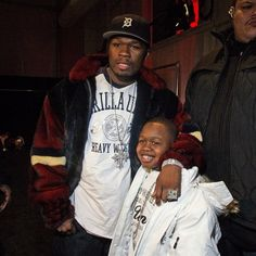 50 Cent and son.