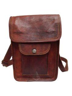 325c16f0d3e2 Details about Unisex Indian Leather Shoulder bag Retro satchel bag small  pure BohoTote Bag