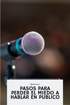 Te cuesta hablar en publico? mira estos pasos y pierde el miedo... Tips, Advertising, Counseling